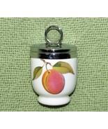 ROYAL WORCESTER EGG CODDLER Porcelain PLUM Red Berries Standard Size EVE... - $17.82