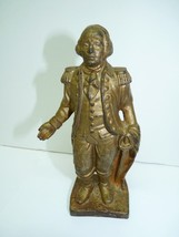 Vintage 20s Americana George Washington Cast Iron Savings Bank Statuette... - $117.60