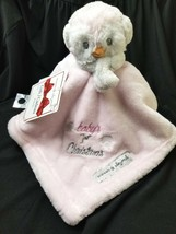 NWT Blankets Beyond Baby's 1st Christmas Lovey Pink Baby Penguin Securit... - $9.39