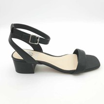 Vince Camuto Womens Jantta Ankle Strap Sandals Black Leather Buckle Sz 8.5M - $43.55