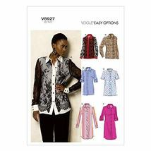 Vogue Patterns V8927 Misses' Shirt Sewing Template, Size F5 (16-18-20-22... - $10.99