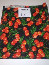 Cherries, Hi Fashion Fabrics, 1 Yd (D2003) - $2.00