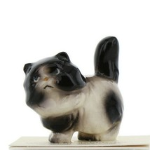 Hagen Renaker Miniature Cat Fat Black and White Ceramic Figurine