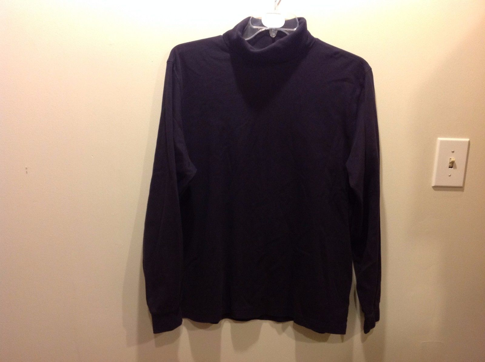 Lands End Navy Blue Turtleneck Sweater Sz XL 46-48