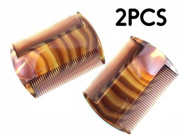 2 HEAD LICE Treatment Comb Kid Nit Hair Flea Egg Removal 2 Sided Fine Wi... - $6.85