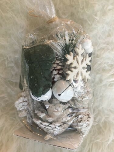 WINTER PINE Dried SNOWFLAKE Floral Pie cones Potpourri