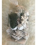 WINTER PINE Dried SNOWFLAKE Floral Pie cones Potpourri - $8.86