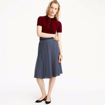 J.Crew Double-pleated Midi Stripe Skirt, Size 14 Nwt - $104.00