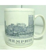 Memphis Bluff City Starbucks Architectural Mug 2007 Coffee Cup Blue Whit... - $15.47