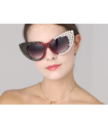 Fashion 2018 Oversized Sunglasses Women Brand Designer Luxury Bling Rhin... - $29.99