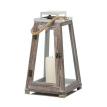 Candle Lantern Holder, Large Pyramid Outdoor Tabletop Decor Modern Candl... - $41.99