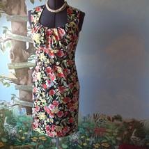 Spence Women's Black Floral Sleeveless Cotton Dress Size 8 - $33.66