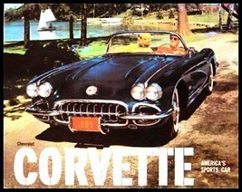 1959 Corvette Color Dealer Brochure, 59 Vette GM - $10.26