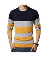 Sweater Men Casual Sweaters Mens O -Neck Knit Warm Pullover Masculino Su... - $37.46