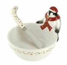 Spode Christmas Tree 2019 Penguin Dip Bowl and Spreader New - $59.40