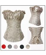 HEXIN Women's Plus Size Corset Creamy Lvory Renaissance Satin Lacing Cor... - $24.90