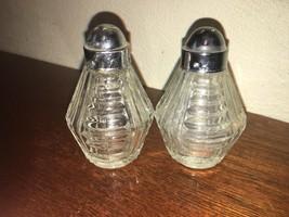 Vintage Anchor Hocking Ribbed Glass Salt & Pepper Shakers - $5.00