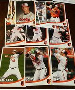 2016 BALTIMORE ORIOLES TEAM ISSUE CARD SET DAVIS MACHADO TRUMBO JONES KI... - $74.99