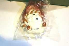 CHRISTMAS ORNAMENTS WHOLESALE- SNOWMAN- 13364- 'GRANDPA'- (12) - NEW -W74 - $9.75