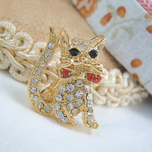 Gold Cat with Pink Bow Crystal - $6.99