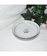 EMPRESS CHINA BROOKFIELD COUP SALAD BOWL 3 PINK FLOWER GREY LEAF 1204 JAPAN - $16.12