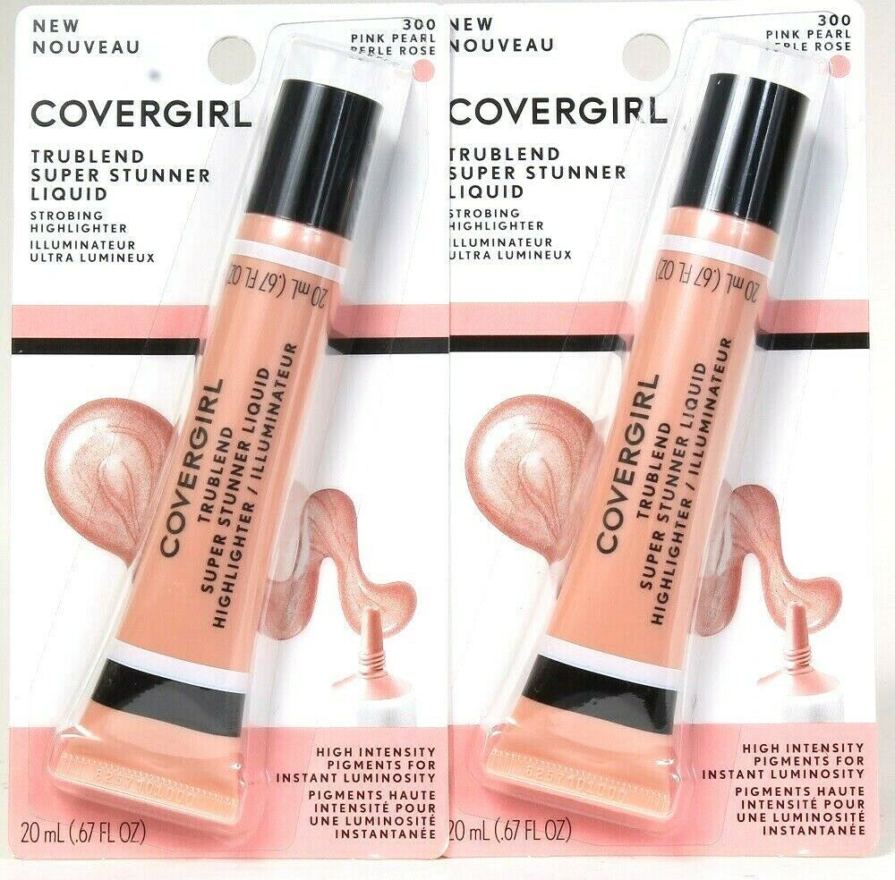 2 Ct Covergirl 0.67 Oz TruBlend 300 Pink Pearl Super Stunner Liquid Highlighter - $20.99