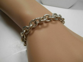 Tiffany & Co. Round Link Charm Bracelet Sterling Silver w/ Pouch - $165.86