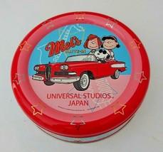 Snoopy USJ Goods empty box Round tin can rare universal studios japan pe... - $20.00