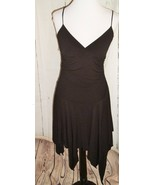 Womens Taboo Black Poly Lycra Fairy Pixie Hem Party Dress Sz S LBD Holid... - $29.65