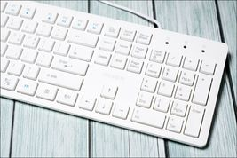 iRiver Korean English Keyboard USB Wired Membrane Cover Skin Protector (White) image 4