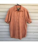 Cabelas Sports Shirt Men's Large Cotton Short Sleeve Summer Button Front... - $15.00