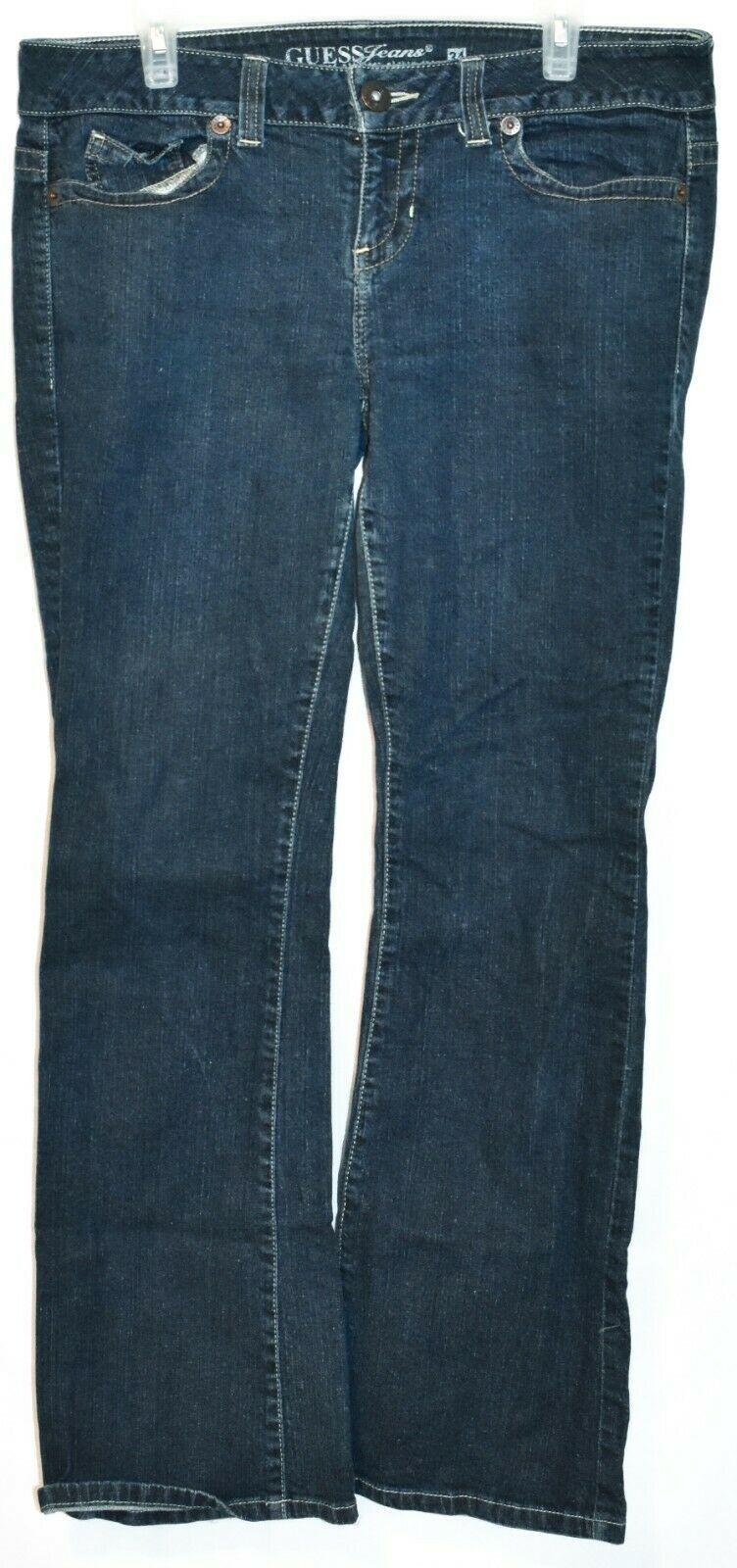 Guess Jeans Women's Daredevil Bootcut Dark Blue Stretch Denim Size 34