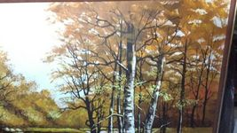 "Large 61""x 49"" Original Walter Sherwood Landscape Oil Painting Signed Artist Art image 3"
