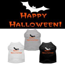 Mirage Happy Halloween Screen Print Dog Shirts - $20.00