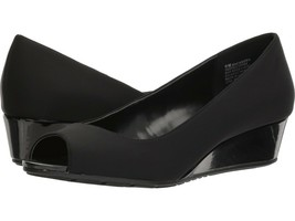 Bandolino Candra B-Flexible Peep-Toe Wedge Pumps, Black, Size 11 M - $16.99