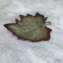 "Ceramic Grape Leaf Dish, 7"", Pottery Spoon Rest, Bowl, Teabag Holder, Soap Dish image 3"