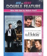 HIS vs. HERS DOUBLE: Casino Royal+ The Holiday- Daniel Craig- Jude Law- ... - $10.44
