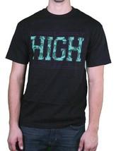 Fly Society Uomo Nero Maui Wowie Erba Fumare Marijuana Aviatore Alto T-Shirt Nwt image 1