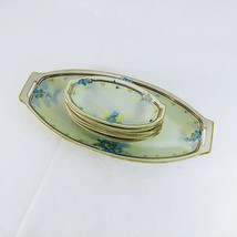 Nippon Celery Platter with 6 Salt / Dip Dishes Hand Painted Je Oh China Vintage - $76.78