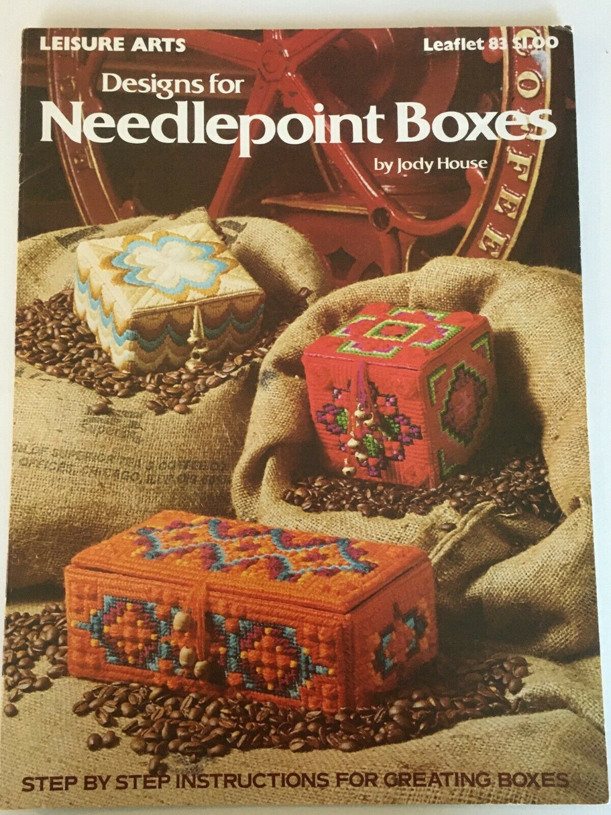 Primary image for Leisure Arts Designs for Needlepoint Boxes Jody House Leaflet 83 Sewing Crafts