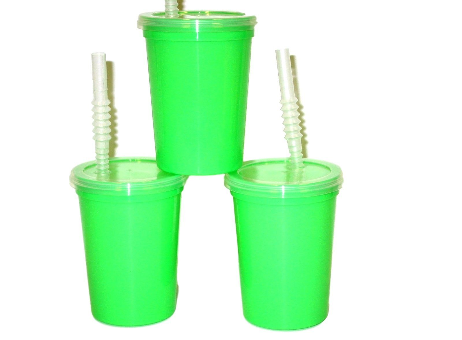 12-12 Oz White Plastic Drinking Glasses Cups Mfg.USA Lead Free Free Shipping