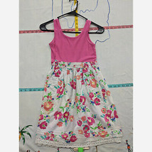 Girl's Size L (10/12) Cherokee Pink Floral Dress - $12.58
