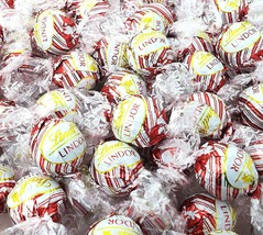 Lindt Lindor Candy Cane Truffles, White Red Foil Gluten Free Candy, Bulk... - $32.99