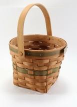 Vintage Signed 1988 Handwoven Longaberger Christmas Collection Poinsettia Basket - $22.27