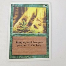 Vtg Magic Gathering Card Mtg Regrowth Revised Jades Collection Light Play - $7.68