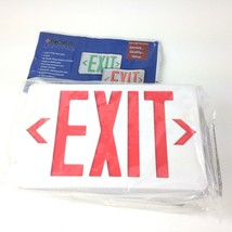 Lot of 2 Nora Lighting Exit Sign, red, NX-603-LED, Man Cave Decor - $16.82