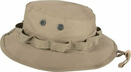 Khaki Military Wide Brim Fishing Hunting Boonie Hat - $11.99+