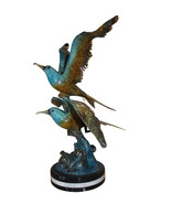 """Two Seagull flying  - Bronze Statue -  Size: 36""""L x 17""""W x 27""""H. - $1,290.00"""