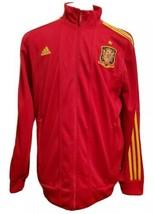 Adidas Sz L España Full Zip Track Jacket Red Yellow Soccer Football Spain - $42.06