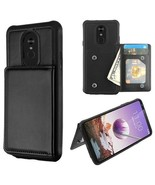 For LG Stylo 5 Phone Case Leather Wallet TPU Hard Cover Hybrid Card Flip... - $8.60